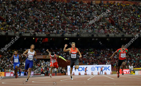 Julian Reus Germany's Julian Reus, second right, runs in a men's round one heat of the 100m at the World Athletics Championships at Bird's Nest stadium in Beijing