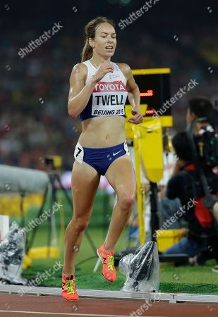 Britain's Stephanie Twell competes in the women's 5000m final at the World Athletics Championships at the Bird's Nest stadium in Beijing