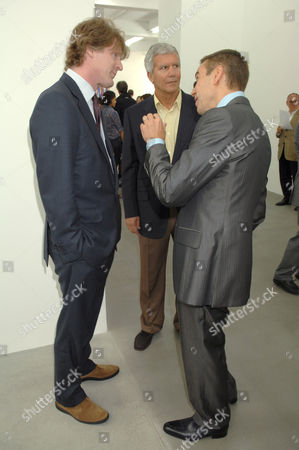 Mark Getty, Larry Gagosian and Jeff Koons