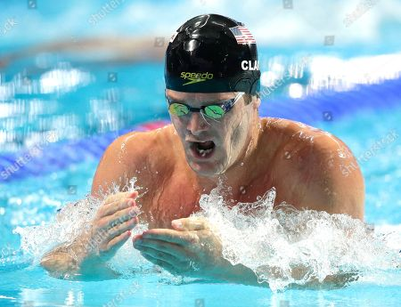 United States' Tyler Clary swims in the men's 400m individual medley final at the Swimming World Championships in Kazan, Russia