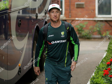 Brad Haddin Australia wicketkeeper Brad Haddin walks to leave on the team bus after taking part in a training session at Lord's cricket ground in London. Wicketkeeper Brad Haddin announced his retirement from test and domestic first class cricket joining the exodus of veteran players from the Australian side after its Ashes loss