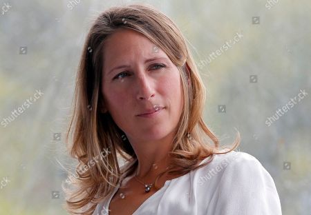 French sailor and environmentalist Maud Fontenoy attends the France employer's union MEDEF annual meeting in Jouy en Josas, outside Paris