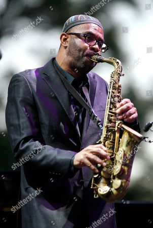 American saxophonist Kenny Garrett performs at the Five Continents Marseille Jazz festival in Marseille, southern France