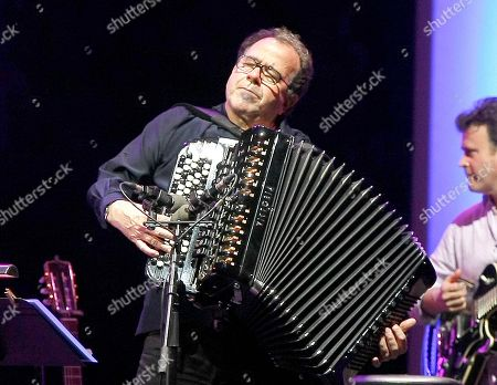 French accordionist Richard Galliano performs at the Five Continents Marseille Jazz festival in Marseille, southern France