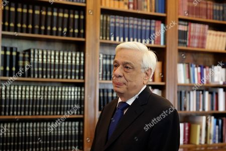 Prokopis Pavlopoulos Greek President Prokopis Pavlopoulos, waits the arrival of former Energy Minister and head a party called Popular Unity, Panagiotis Lafazanis, before their meeting in Athens, . Greece came one step closer to early elections Thursday as Lafazanis the head of a new breakaway left-wing party returned his mandate to form a government to the country's president after having failed to find willing coalition partners