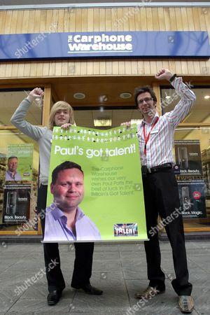 Editorial photo of Carphone Warehouse shop in Bridgend, where 'Britain's Got Talent' winner Paul Potts worked, Wales, Britain  - 18 Jun 2007