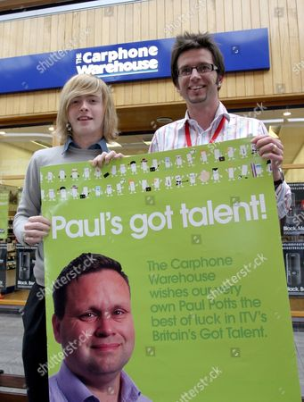 Editorial image of Carphone Warehouse shop in Bridgend, where 'Britain's Got Talent' winner Paul Potts worked, Wales, Britain  - 18 Jun 2007