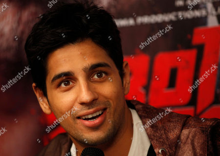 """Sidharth Malhotra Indian Bollywood actor Sidharth Malhotra speaks during a press conference of his upcoming movie """"Brothers"""" in Ahmadabad, India, . The film is scheduled to release on Aug. 14"""