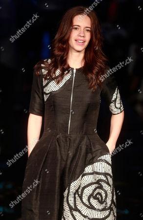 Kalki Koechlin Indian Bollywood actress Kalki Koechlin poses for photographs during the Lakme Fashion Week in Mumbai, India