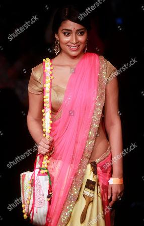 Shriya Saran Indian actress Shriya Saran poses for photographs during the Lakme Fashion Week in Mumbai, India