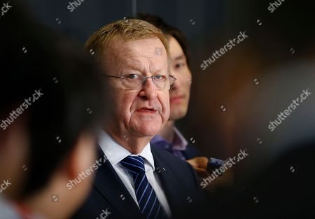 John Coates International Olympic Committee Vice President John Coates answers a reporter's question during a press conference after meeting with Japan's Olympics Minister Toshiaki Endo in Tokyo, . The top International Olympic Committee official has urged Japan to speed up the troubled construction of Tokyo's new national stadium for delivery by January 2020