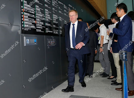 John Coates International Olympic Committee Vice President John Coates leaves a press conference after meeting with Japan's Olympics Minister Toshiaki Endo in Tokyo, . The top International Olympic Committee official has urged Japan to speed up the troubled construction of Tokyo's new national stadium for delivery by January 2020