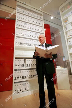 Library of Human Genome - Professor James 'Jim' Watson, one of the scientists behind the discovery of the structure of DNA.
