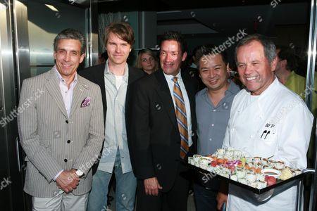 Charles Cohen, Martin Vahtra, John Duran, Rex  and Wolfgang Puck
