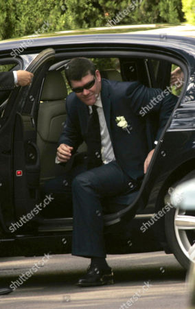 James Packer after his low key ceremony at the town hall.