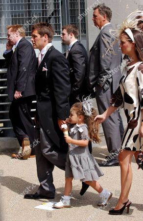 Michael Owen arriving with his wife Louise Owen and daughter Gemma Rose