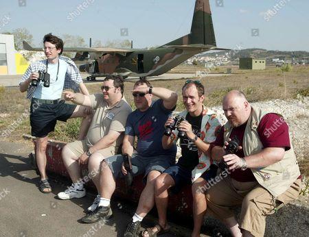 'Planespotting' - 2005 - Left to Right - Jonathon Aris (Wayne), Mark Benton (Paul Coppin), Ross Boatman (Steve), Rupert Proctor (Antoni) and Nick Holder (Garry)