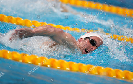 Canada's Ryan Cochrane competes in a men's 800m freestyle heat at the Swimming World Championships in Kazan, Russia