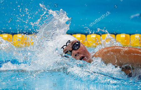 Denmark's Lotte Friis competes in the women's 1500m freestyle final at the Swimming World Championships in Kazan, Russia