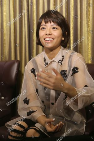 "Vivian Sung On, Taiwanese actress Vivian Sung speaks during an interview about her new film ""Our Times"" in Taipei, Taiwan"