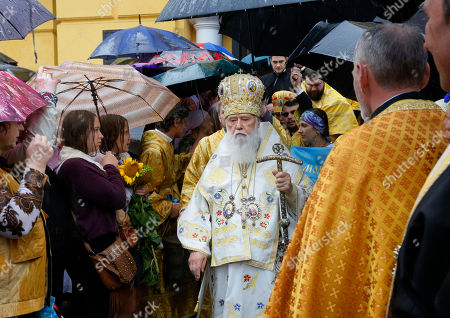 Filaret Ukrainian Orthodox Church Patriarch Filaret walks by believers at a ceremony marking the the 1000th anniversary of the death of Great Prince Vladimir in the St. Volodymyr Cathedral in Kiev, . Grand Prince Vladimir was an outstanding political figure in ancient Russia. During his rule, Christianity was adopted in Russia