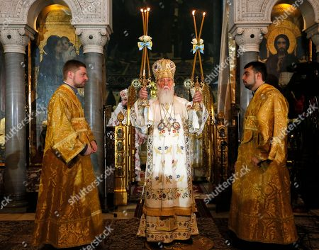 Filaret Ukrainian Orthodox Church Patriarch Filaret conducts a service marking the the 1000th anniversary of the death of Great Prince Vladimir in the St. Volodymyr Cathedral in Kiev, . Grand Prince Vladimir was an outstanding political figure in ancient Russia. During his rule, Christianity was adopted in Russia