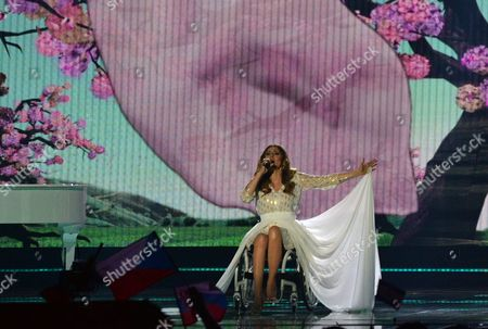 Poland's Monika Kuszynska performs the song 'In The Name Of Love', during the second semifinal of the Eurovision Song Contest in Austria's capital Vienna