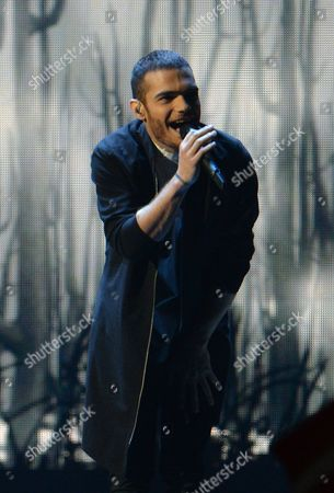 Azerbaijan's Elnur Huseynov performs the song 'Hour Of The Wolf', during the second semifinal of the Eurovision Song Contest in Austria's capital Vienna