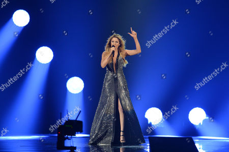 Maria Elena Kyriakou representing Greece performs the song 'One Last Breath' on stage during a dress rehearsal for the final of the Eurovision Song Contest in Austria's capital Vienna