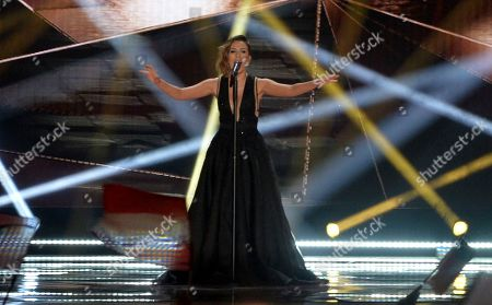 Elhaida Dani representing Albania performs the song 'I'm Alive' during the final of the Eurovision Song Contest in Austria's capital Vienna