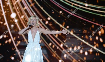 Polina Gagarina representing Russia performs the song 'A Million Voices' during the final of the Eurovision Song Contest in Austria's capital Vienna