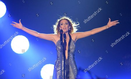 Maria Elena Kyriakou representing Greece performs the song 'One Last Breath' during the final of the Eurovision Song Contest in Austria's capital Vienna