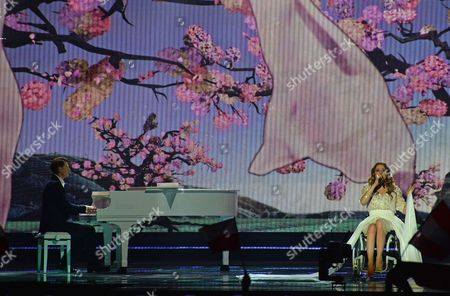Monika Kuszynska representing Poland performs the song 'In The Name Of Love' during the final of the Eurovision Song Contest in Austria's capital Vienna