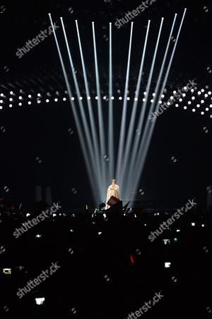 Bojana Stamenov representing Serbia performs the song 'Beauty Never Lies' during the final of the Eurovision Song Contest in Austria's capital Vienna