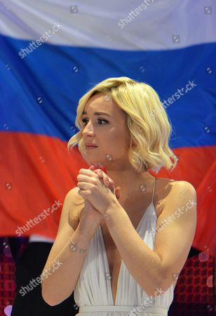 Polina Gagarina representing Russia reacts as the results start to come in during the final of the Eurovision Song Contest in Austria's capital Vienna