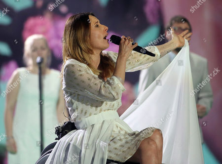 Monika Kuszynska representing Poland performs the song 'In The Name Of Love' on stage during a dress rehearsal for the final of the Eurovision Song Contest in Austria's capital Vienna