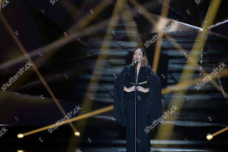 Albania's Elhaida Dani performs the song 'I'm Alive'during the first semifinal of the Eurovision Song Contest in Austria's capital Vienna