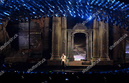 Macedonia's Daniel Kajmakoski performs the song 'Autumn Leaves' during the first semifinal of the Eurovision Song Contest in Austria's capital Vienna