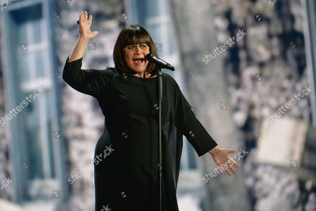 France's Lisa Angell performs ' N'oubliez pas ' during a dress rehearsal at the Eurovision Song Contest in Austria's capital Vienna
