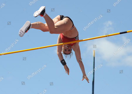 Germany's Silke Spiegelburg competes in the Women's Pole Vault at the Birmingham Grand Prix Diamond League Athletics meeting, at Alexander stadium in Birmingham, England