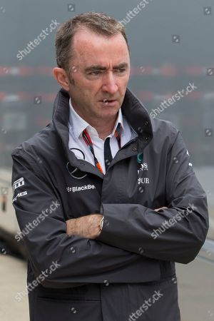 Mercedes Formula One team Executive Technical Director Paddy Lowe walks through the paddock area before the British Formula One Grand Prix meeting at Silverstone circuit, Silverstone, England, . The British Formula One Grand Prix will be held on Sunday July 5