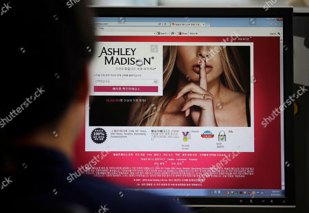 In this photo, Ashley Madison's Korean website is shown on a computer screen in Seoul, South Korea. Hackers claim to have leaked a massive database of users from Ashley Madison, a matchmaking website for cheating spouses. In a statement released Tuesday, Aug. 18, a group calling itself Impact Team said the site's owners had not bowed to their demands