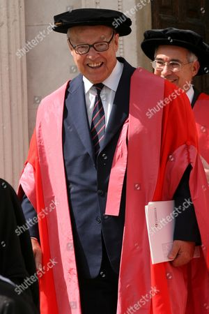 Hans Blix after receiving an Honorary Degree from Cambridge University