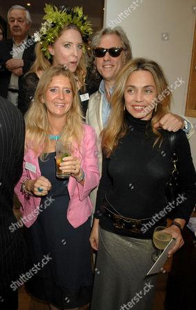 Eva Hamilton, Katrine Boorman, Bob Geldof and Jeanne Marine