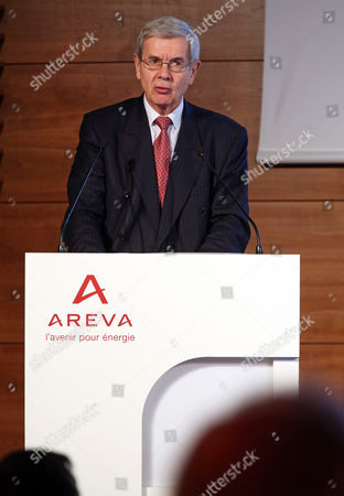 Philippe Varin, chairman of the board of Areva, addresses the audience during the general meeting of shareholders at the company's headquarter in La Defense business district, west of Paris, . Areva has to face a 4.8 billion euro (US$5.4 billion) loss for 2014, more than its entire market value, plunging the powerful French nuclear industry into turmoil