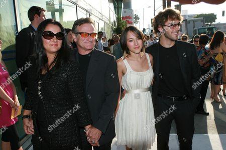 Marsha Garces, Robin Williams, Zelda Williams & Zack Silver