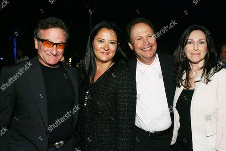 Robin Williams, Marsha Garces, Billy Crystal and wife Janice
