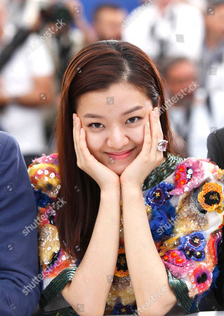 Stock Photo of Ko Ah-sung poses for photographers during a photo call for the film O Piseu (Office), at the 68th international film festival, Cannes, southern France