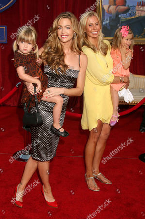 Denise Richards and daughter Sam J. Sheen with guests