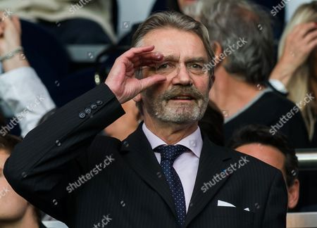 Frederic Thiriez Chairman of the European Professional Football Leagues (EPFL) Frederic Thiriez gestures prior to their French League match against Reims at the Parc des Princes stadium in Paris